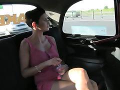 Huge tits amateur blonde slut fucked for a free fare