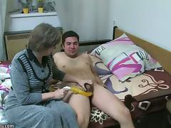 Mom and Boy, 18 19 Teens, Aged, Blowjob, Granny, Mature