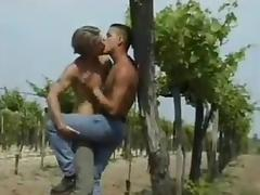 Gay guy on the sand sucking cock before pounding ass