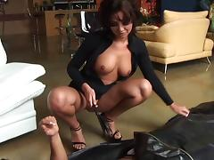 Terri Summers with natural tits takes cumshot after being fucked hardcore
