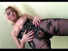 Bodystocking, Blonde, Bodystocking, Fucking, Stockings, Crotchless