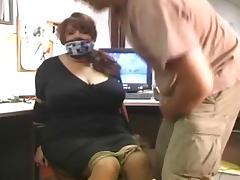 Bound, BBW, BDSM, Bondage, Bound, Office