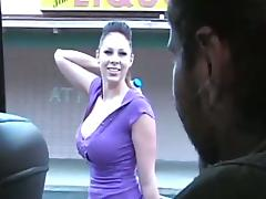 Delectable babe with big tits enjoys riding a cock after giving a blowjob