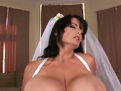 Big wedding boobs - Bigger