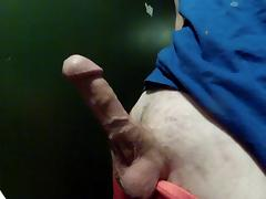 Sweet Shaved Cock Jacking Off In Bathroom Cum HD
