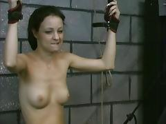 Dirty girl interrogated slave gets toy in wet big pussy punishment