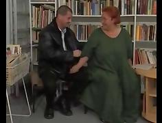 BBW Librarian Gets Laid