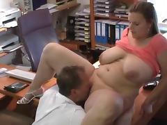 Sexy German BBW gets fucked at job interview