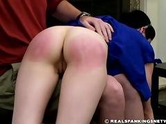 Severe OTK Hairbrush spanking punishment