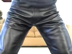 Leather skin jerk off