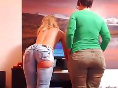 Strip, Ass, Strip, Webcam, French Teen
