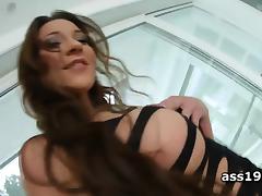 Julie Skyhigh teasing wet cunt and dildoing ass