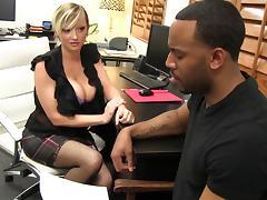 Office, Big Cock, Couple, Hardcore, Interracial, Monster Cock