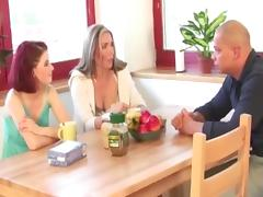 Mature and girl threesome