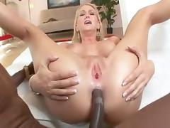 Blonde housewife takes BBC and IR anal creampie