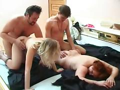 Spouse trading swinger couples enjoy a scintillation foursome