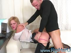 Slut wants rough anal sex and he gives it to her hard