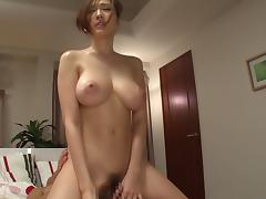 Japanese, Asian, Big Tits, Couple, Cowgirl, Hairy