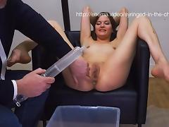 Syringe Enema In The Chair, Part 1