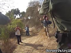 Border patrol agent fucks a hot chick he just arrested