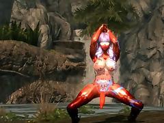 Skyrim sexy dance Gentleman Waveya HDT(futanari)