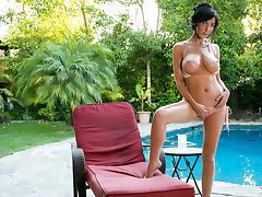 Diana Prince in Poolside Masturbation Scene