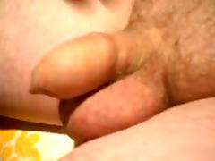 Small shlong foreskin jerk off