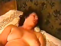 My wife can't help but moan while fucking her pussy with a cucumber