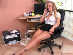 Blonde, Blonde, Boobs, Boss, Office, Tits