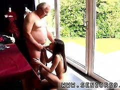 Teen creampie surprise Horny senior Bruce catches sight of a