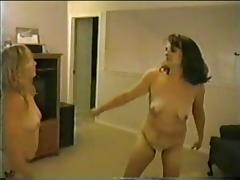 Bulky Non-Professional Catfight (two)