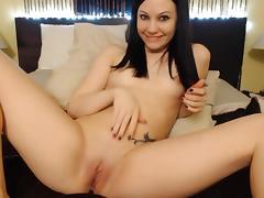 Brunette, Brunette, Masturbation, Small Tits