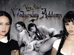 Ramon Nomar & Necro Nicki & Judas in Very Adult Wednesday Addams - Afterparty Scene