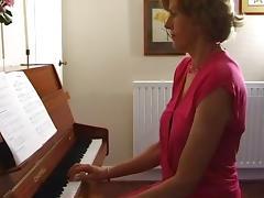 British, British, Lingerie, Mature, Piano