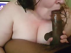 BBW, BBW, Blowjob, Interracial, Sucking