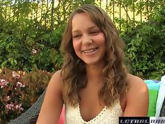Teen Liza Rowe gets hardcore creampie big cock