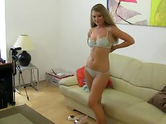 Casting, Amateur, Audition, Blonde, Casting, European
