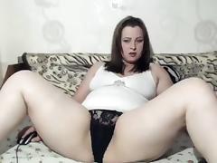 BBW, BBW, Brunette, Masturbation, Solo, Webcam