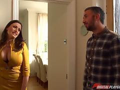 Perfect big natural tits babe Sensual Jane fucks a big dick guy