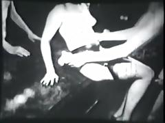 threesome party including striptease - circa 60s
