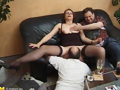 Old swingers have a wild hardcore party with lucky guys