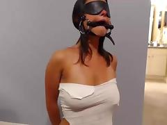 Blindfolded, Amateur, BDSM, Blindfolded, Blowjob, Choking