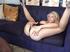 Pretty Blonde Receives Deep Breeding Session