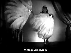 Asian Beauty Performs Naked Feather Dance (1940s Vintage)