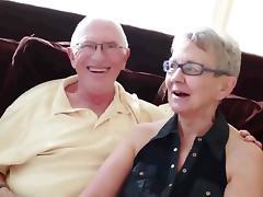 Granny   husband invite a junior stud to fuck her