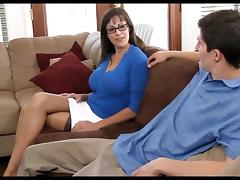 Mom and Boy, Fucking, Mature, MILF, Experienced, Mom and Boy