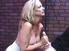 Huge load on her tits
