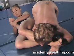 Catfight, Catfight, Dildo, Lesbian, Sex, Strapon