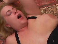 BBW Blonde Buttfucked