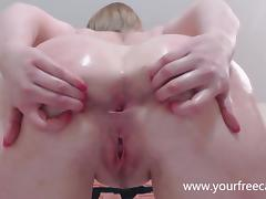 Oiled up and ready for Anal